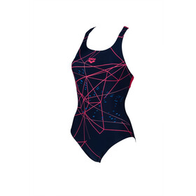 arena Brilliance Swim Pro Back B One Piece Badeanzug Damen navy/freak rose